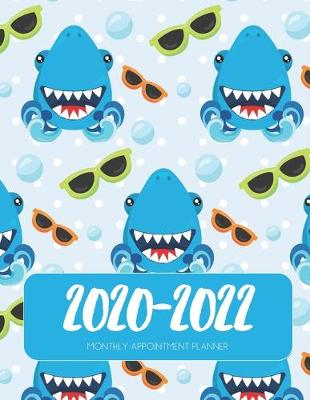 Cover of 2020-2022 Three 3 Year Planner Sharks Monthly Calendar Gratitude Agenda Schedule Organizer