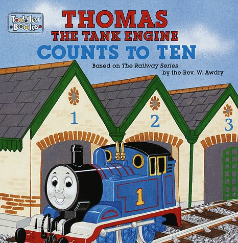 Book cover for Thomas the Tank Engine Counts to Ten