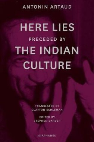 """Cover of """"Here Lies"""" preceded by """"The Indian Culture"""""""