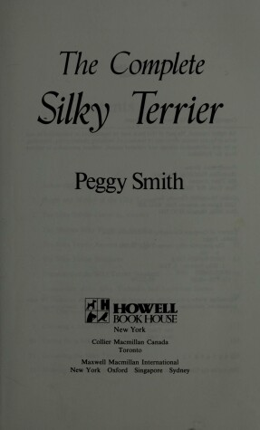 Cover of The Silky Terrier