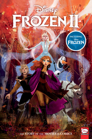 Cover of Disney Frozen and Frozen 2: The Story of the Movies in Comics
