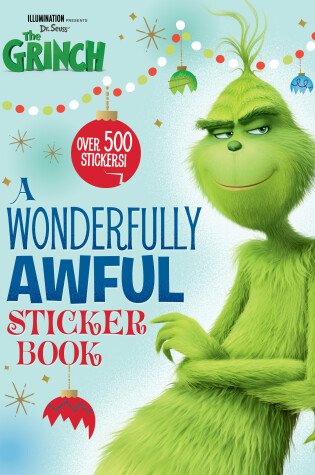 Cover of A Wonderfully Awful Sticker Book (Illumination's the Grinch)