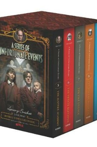 Cover of A Series of Unfortunate Events #5-9 Netflix Tie-In Box Set