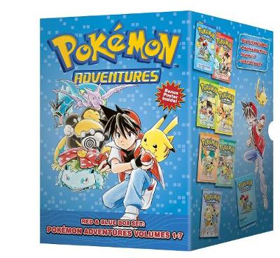 Cover of Pokemon Adventures Red & Blue Box Set (Set Includes Vols. 1-7)
