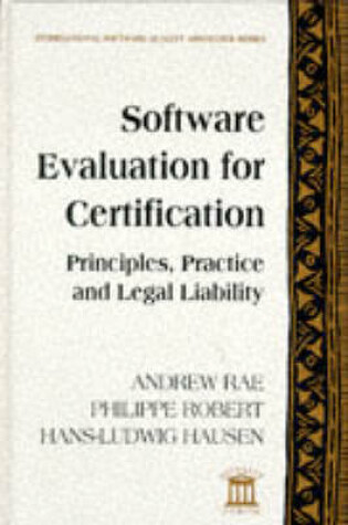 Cover of Software Evaluation for Certification