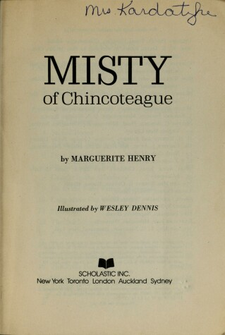 Cover of Misty of Chincoteague