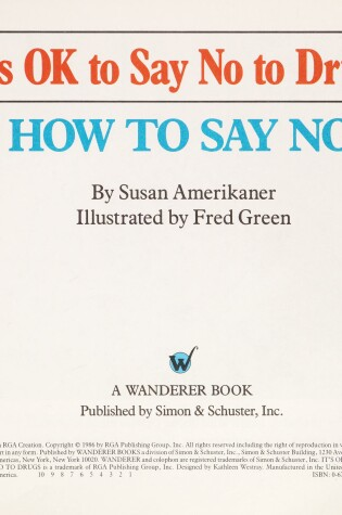 Cover of It's Ok to Say No to Drugs