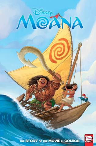 Cover of Disney Moana: The Story of the Movie in Comics